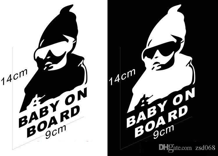 100 adet / grup Gemide 2017 YENI Oto Bebek Carlos Hangover komik araba vinil sticker çıkartması