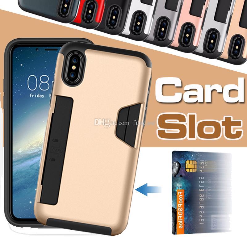 611c2a5f88 Custodie Smartphone Custodie IPhone X Custodia Porta Carte Di Credito  Custodia 2 In 1 Portafoglio Antiurto Custodia Protettiva Antiurto IPhone 8  7 Plus 6s 6 ...