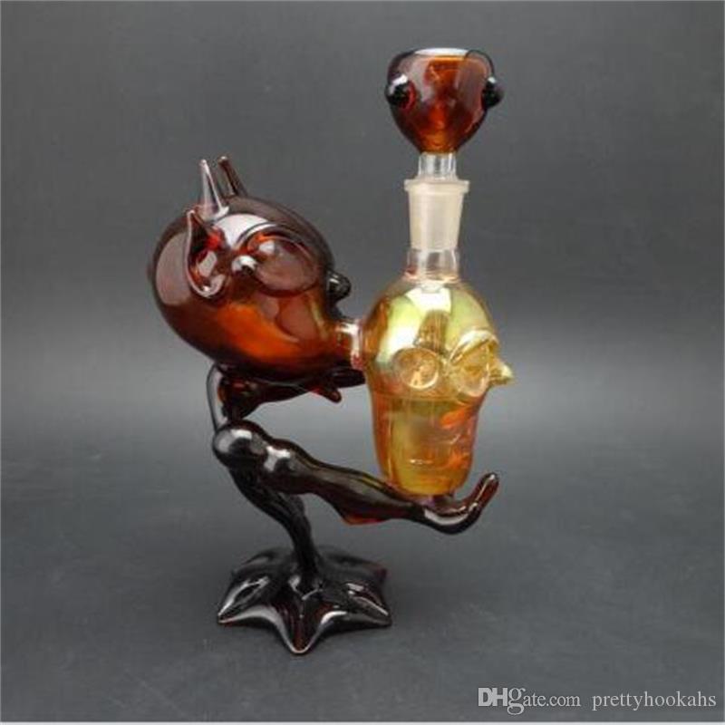 14.5mm Ortak Boyutu Borular Amber Renk Sigara Borular Gerçek delik ile 3 delik Nargile Ücretsiz Kargo