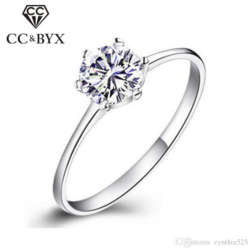 2018 Cc Jewelry Wholesale Engagement Rings For Women Simple Classic