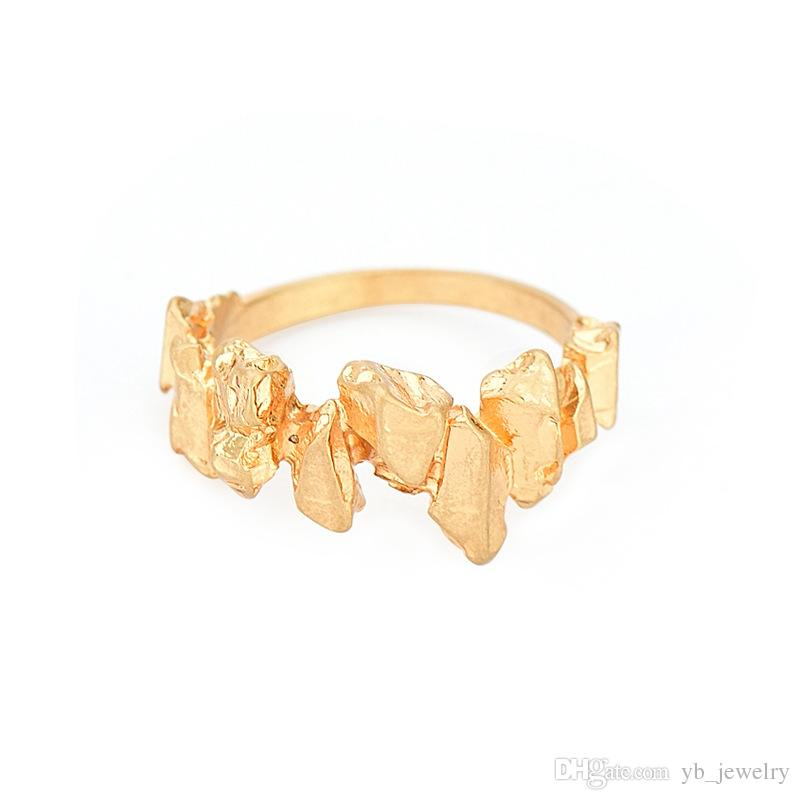 Handmade Minimalist Creative Small Stones Lovers Couple Rings