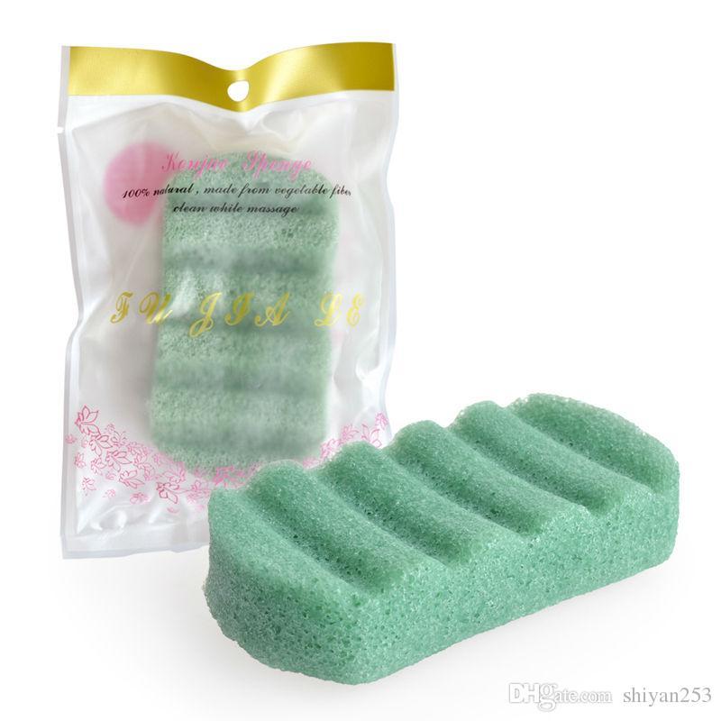 Natural Konjac Konnyaku Cosmética Puff Belleza Facial Limpieza Lavado Exponedor de esponja Cuidado de la piel Limpieza Esponja