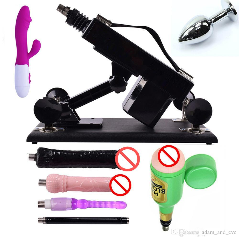 Worldwide Popular Sex Machine Automatic Love-making Robot Sex Machines with Dildo and Male Masturbation Cup Vibrator and Anal Plug as Gift