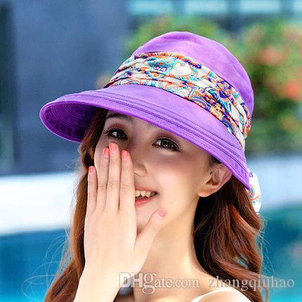 Wholesale Protection Sun Hat Face Summer Foldable Hats For Anti-UV Wide Big  Brim Adjustable Girl Women Hat Garden Wide Brim Hats Foldable Wide Hat  Summer ... 6e90636fc469