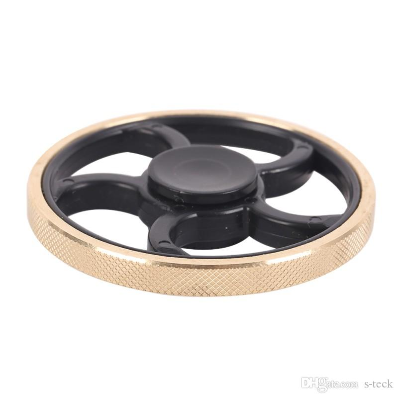 Hot Fingertip Gyro Decompression Fidget spinner Copper Five Leaf Stent EDC Tool Fidget Spinner Hand Anxiety Stress Relief Toys