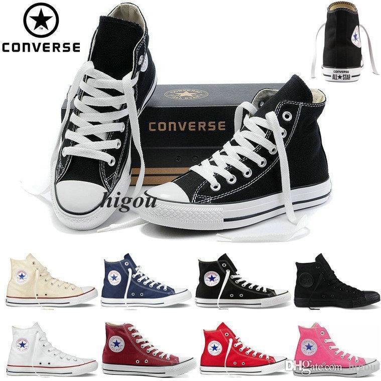6d9cf3c333a Compre 2017 Converse Chuck Tay Lor All Star Zapatos Para Hombres Mujeres  Tops Altos Para Hombre Casual Canvas Brand Converses Sneakers Clásico  Zapatos ...