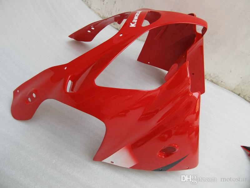 2000 2001 kırmızı siyah grenaj Kawasaki Ninja ZX9R için belirlenen ZX9R kiti kaporta Satış Sonrası vücut parçaları 00 01 OY11