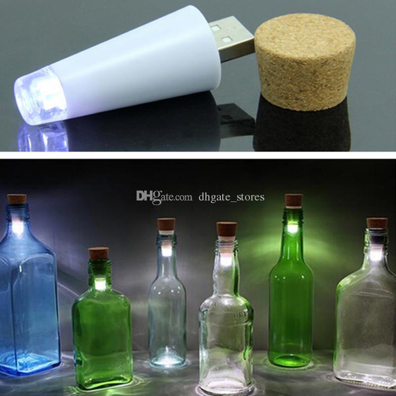 2018 Usb Rechargeable Cork Led Light Wine