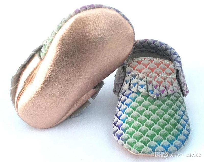 русалка детские moccs обувь мокасины дети кожа обувь для ходьбы для девочек мальчиков Детская обувь 3 цвета выбрать бесплатно