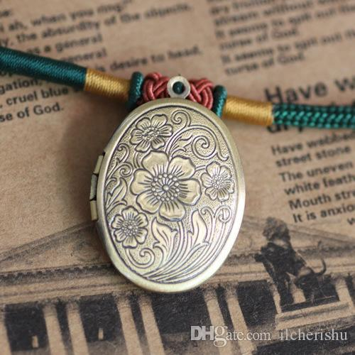 23*29*7MM Silver/antique bronze/rose gold/black gun oval flower photo locket charms jewelry, metal copper picture frame pendants wish box