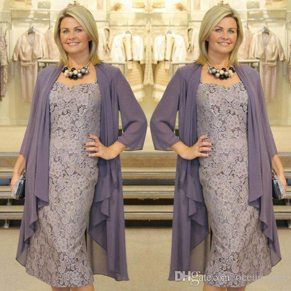 Graceful Tea Length Mother Of The Bride Dresses With