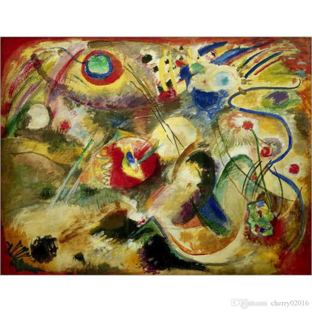 High Quality Wassily Kandinsky Arts Untitled Picture Deluge Hand ...