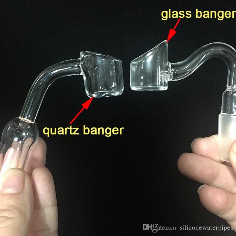 Chiodo reale al quarzo Banger Chiodo femmina 14mm Chiodo al quarzo termico XL 45 gradi 4 mm spessore 4 mm tubi acqua Bong