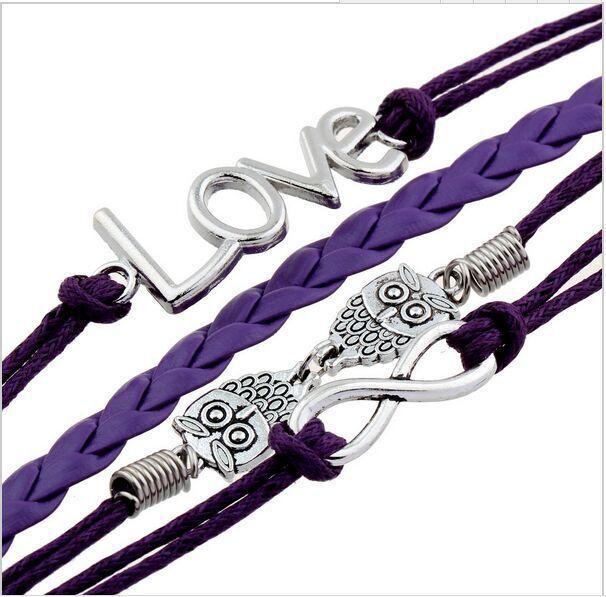 Mix styles leather bracelet for women men vintage cross leather charm bracelet fashion handmade jewelry knitted bracelets