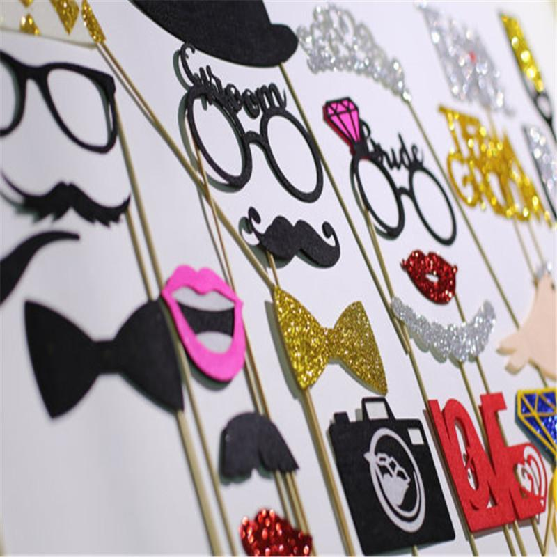 3af3c9e7ec9 2019 Wholesale Fun Wedding Decoration Photo Booth Prop DIY Mr Mrs Mustache  Mask Party BIRTHDAY Accessories Bridal Shower Event Supplies From Hobarte