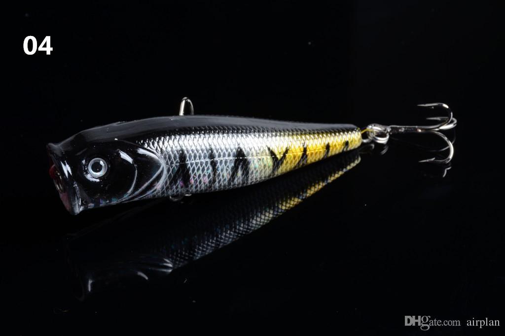 Açık Büyük Ağız Sahte Balıkçılık lures Hard Yapay Popper Bait Balıkçılık Aksesuarları Pesca Balıkçılık Kancalar Mücadele
