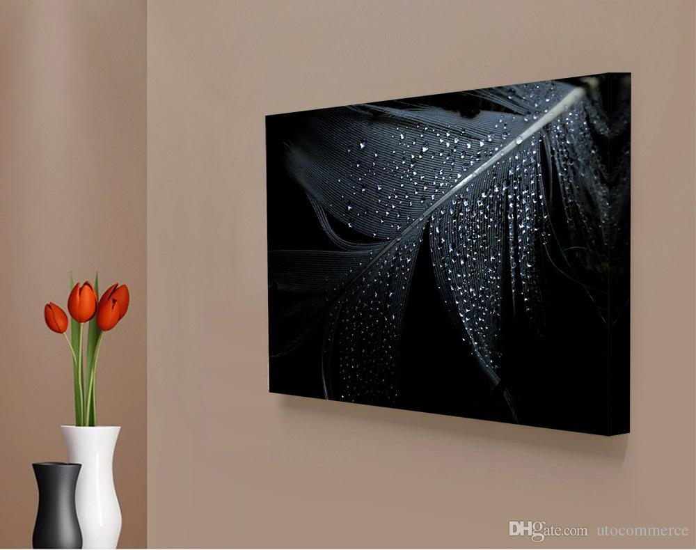 Großhandel 1 Panels Weiße Feder Moderne Foto Druck Einfache ...
