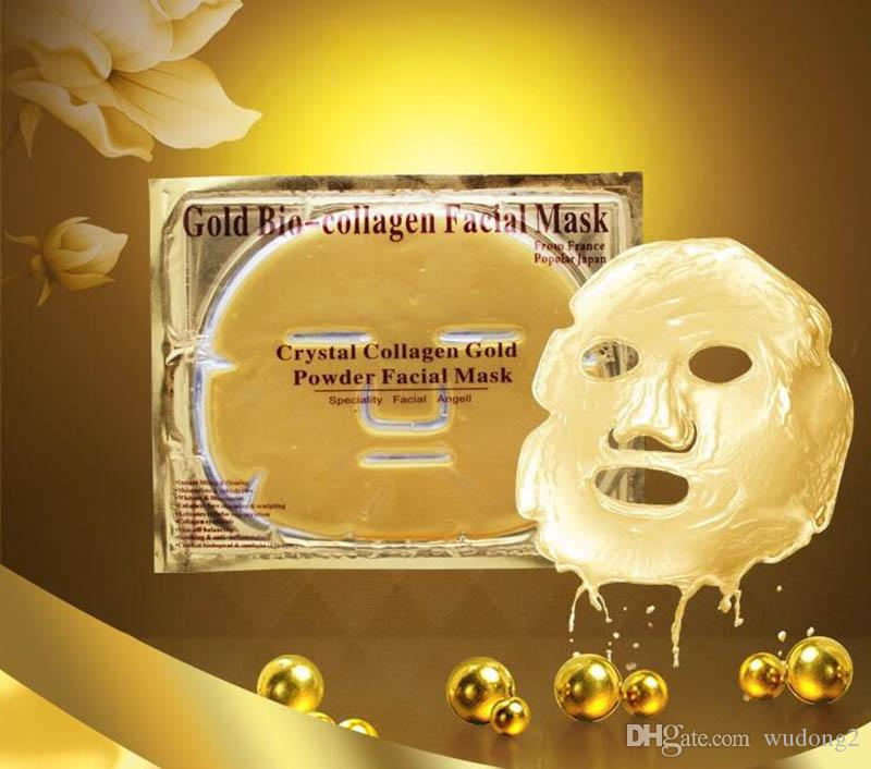Gold Bio-collagen Face Mask Crystal Collagen Gold Powder Facial Mask Moisturizing Whitening Anti-aging Masks & Peels Face Skin Care by DHL