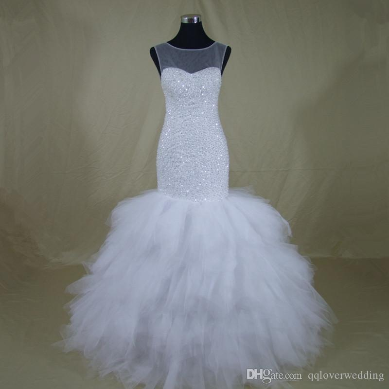 2018 Estilo Africano Fashional Sereia Vestido De Noiva Custom-made Mais Tamanho Do Vestido De Casamento Noivas Vestido De Noiva