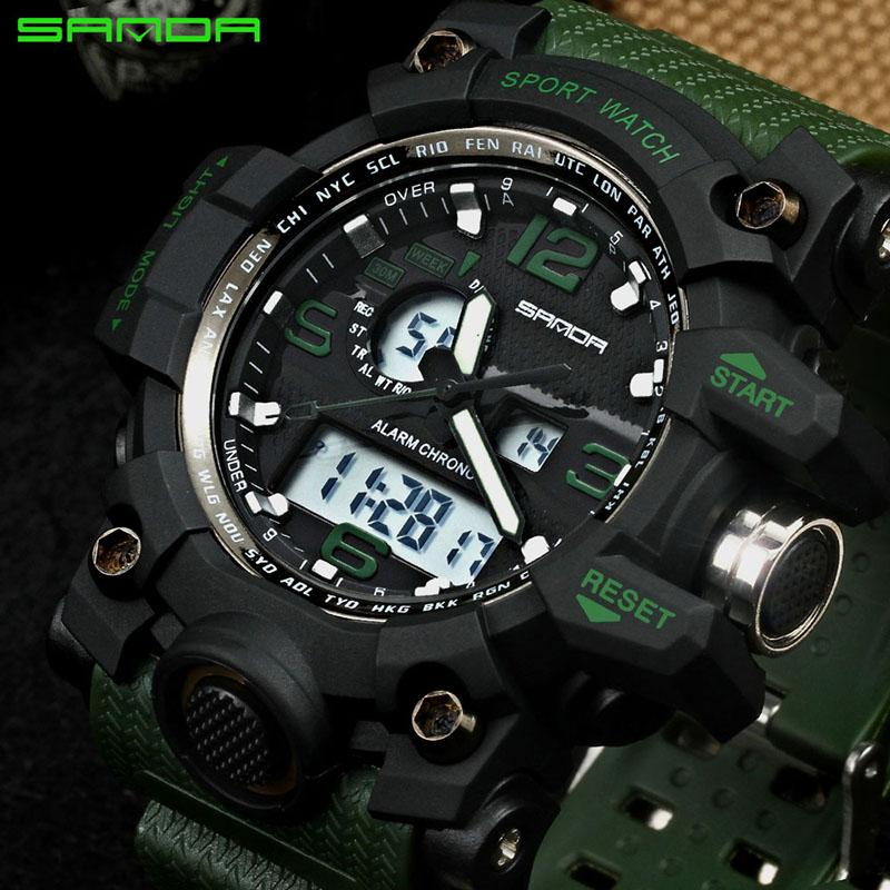 f9a1c650a8d 2017 SANDA Men S Military Sport Watch Men Top Brand Luxury Famous Electronic  LED Digital Wrist Watch Male Relogio Masculino 742 Buy A Watch Online  Watches ...