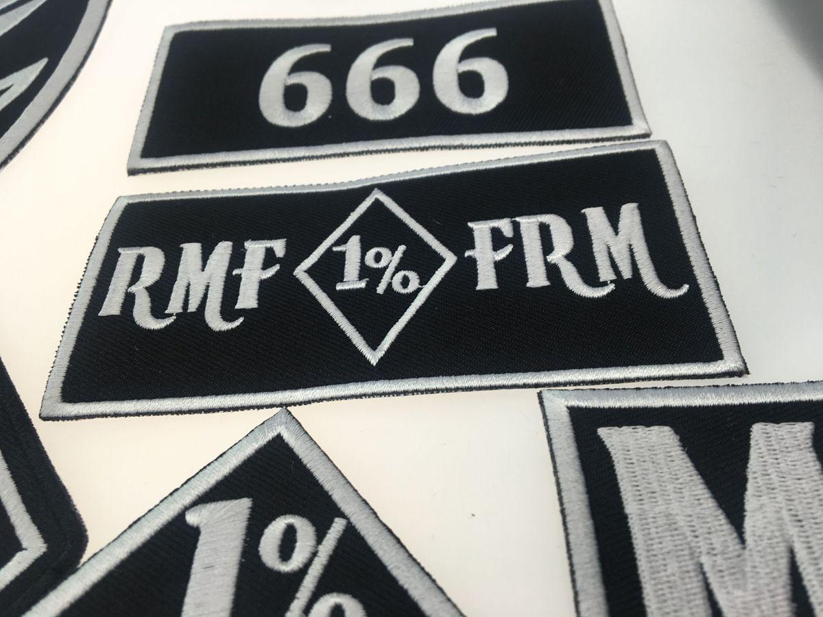 Original Rock Machine Moto Broderie Biker Patch Grand Badge Taille pour Dos Complet Du Veste De Fer Sur Gilet Rocker Patch Livraison Gratuite