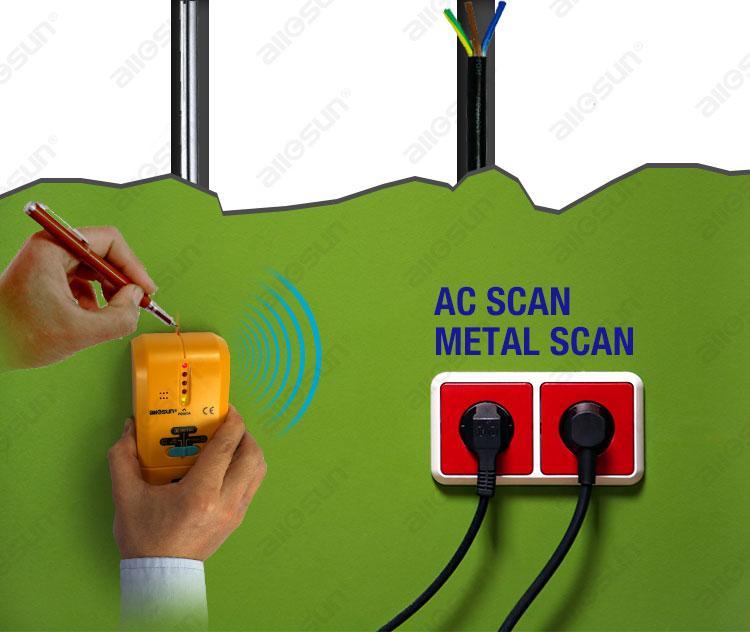 3 في 1 متعدد الوظائف للكشف عن المعادن المحمولة الخشب مسمار مكتشف AC سلك الماسح الضوئي الجهد الاستشعار متناهية الحساسة أداة LCD وضع جميع صن TS73