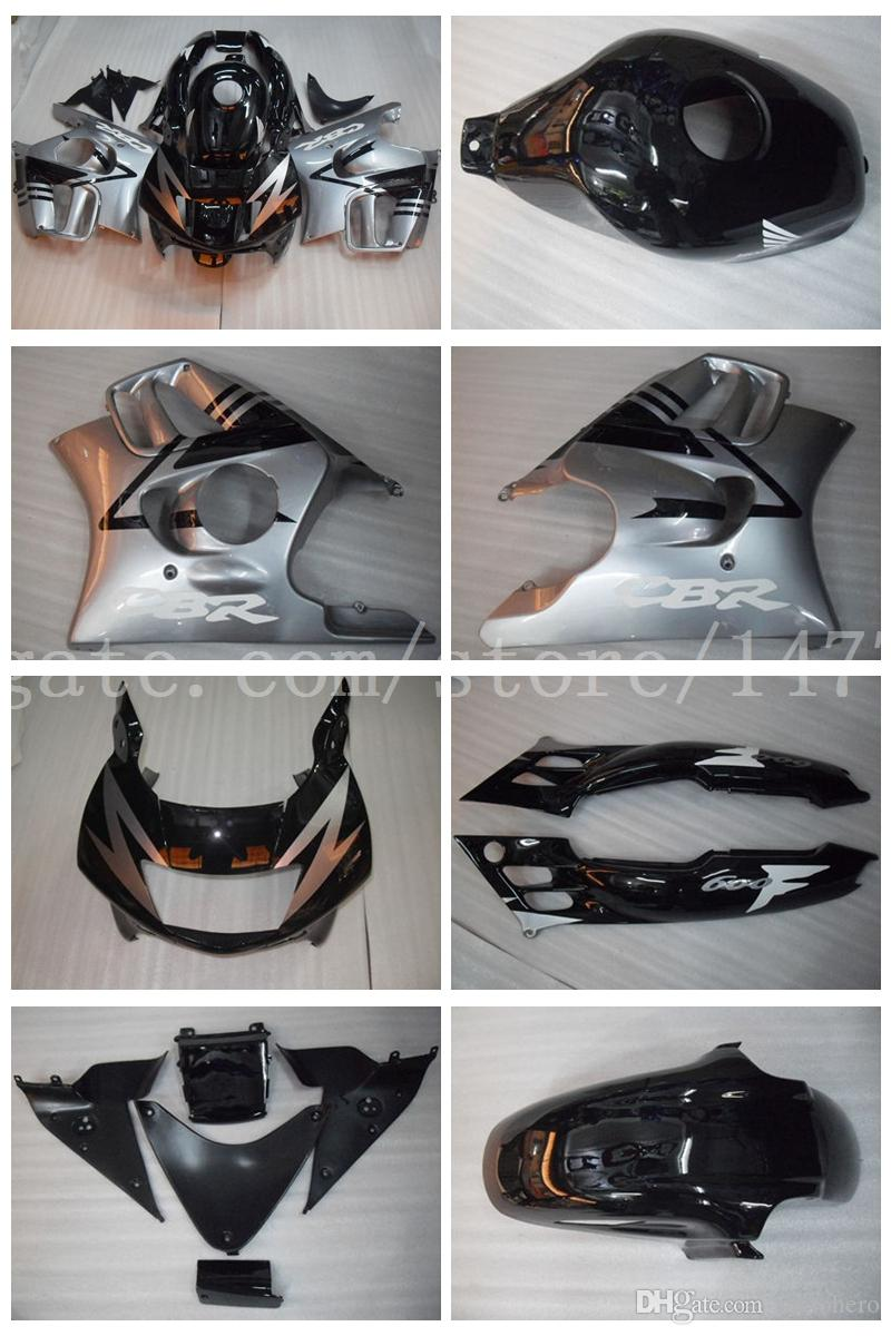 CBR600 F3 1995 1996 Fairing kit+gifts for honda CBR600F3 95-96 CBR 600 F3 95 96 fairings #y29w7 Silver black