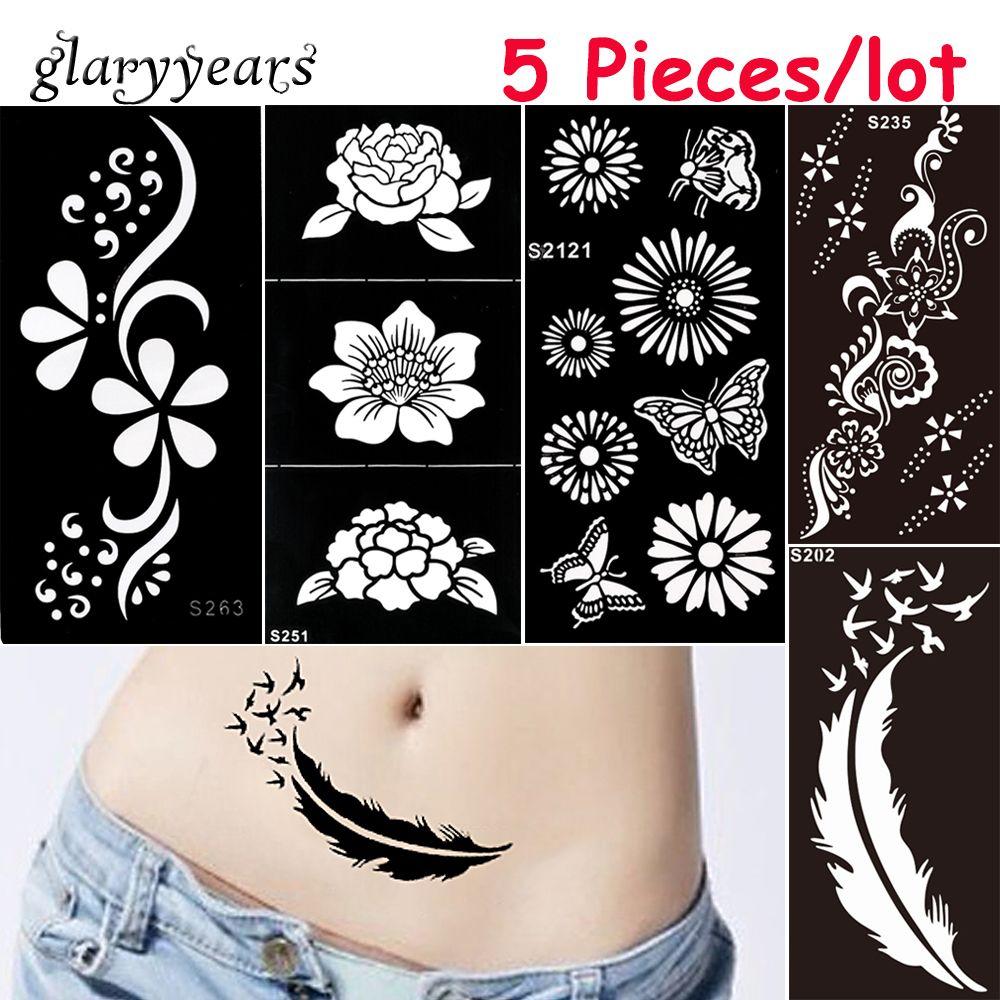 f01fc9d49 Wholesale Medium Henna Stencil DIY Paste Hollow Drawing Flower Lace Design  Henna Body Art Paint Tattoo Stencil Christmas Gift Revell Airbrush Airbrush  ...