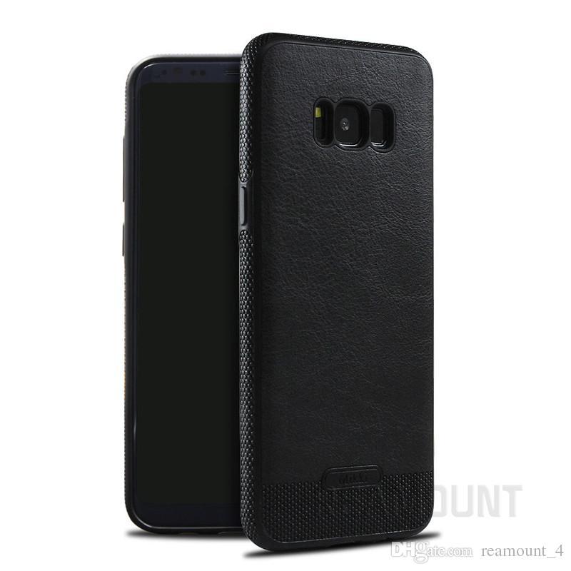 Wholesale bunten Leder-Telefon-Kasten für Samsung S8 S8 plus Personalisierte Anpassen weichen TPU Leder-Telefon-Abdeckung