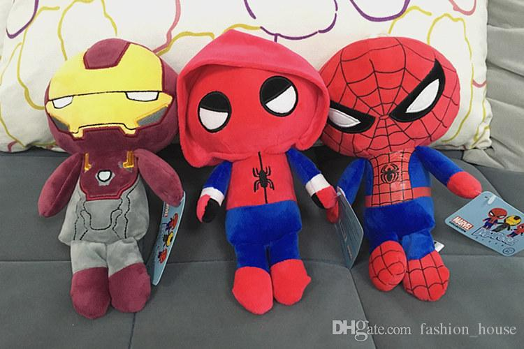 10 Inch 25cm Marvel Movie Superhero spiderman Homecoming Plush Toys spiderman Stuffed Animals for Kid's Gifts PP cotton dolls toys A080