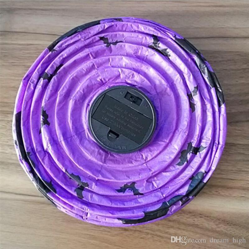 Cadılar bayramı Dekorasyon LED Kağıt Kabak Işık Asılı Fener Lamba Cadılar Bayramı Sahne Açık Parti Malzemeleri Fabrika Fiyat