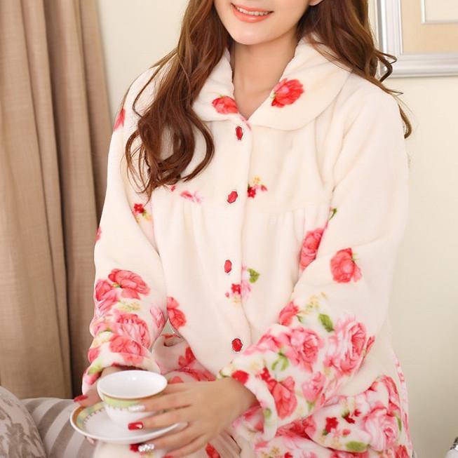 550f36cfcc5 2019 Wholesale Voplidia Plus Size Women Flannel Thich Fleece Pajamas Sets  Winter Long Sleeve Pyjamas Feminino For Women Sleepwear Homewear From Oott