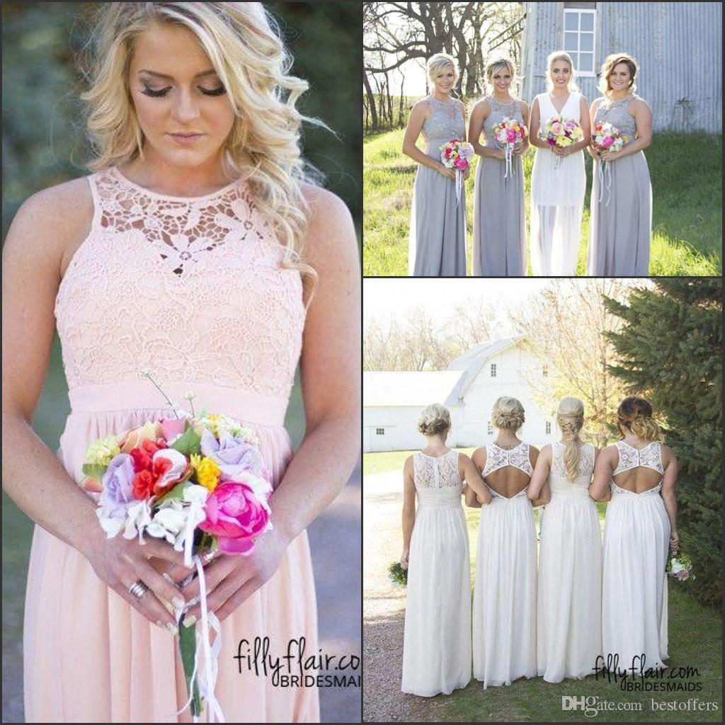 Hot Country Style Bridesmaid Dresses 2018