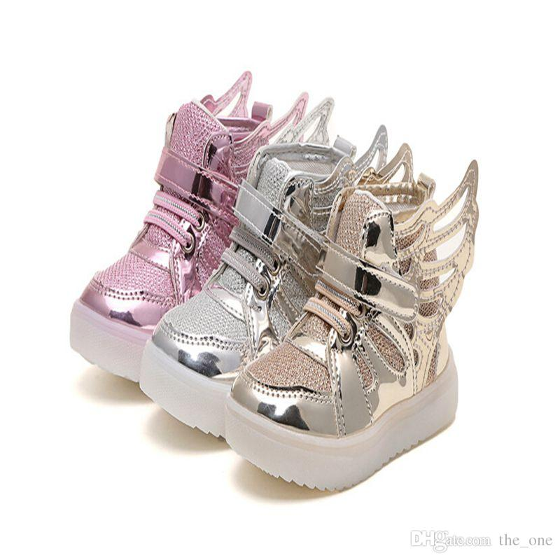 Girls Led Shoes New Spring Autumn Wings Led Shoes Girls Princess Cute Shoes  With Light Children Lighted Sneakers Shoes For Girls And Boys Sneaker For  Kids ... f57838e24c75