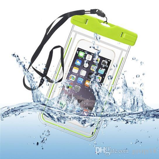 Outdoor PVC Plastic Swimming Dry Case Sport Cellphone Protection Universal Waterproof Bag for IPhone X XS Smart Phone Pouch Neck Bags