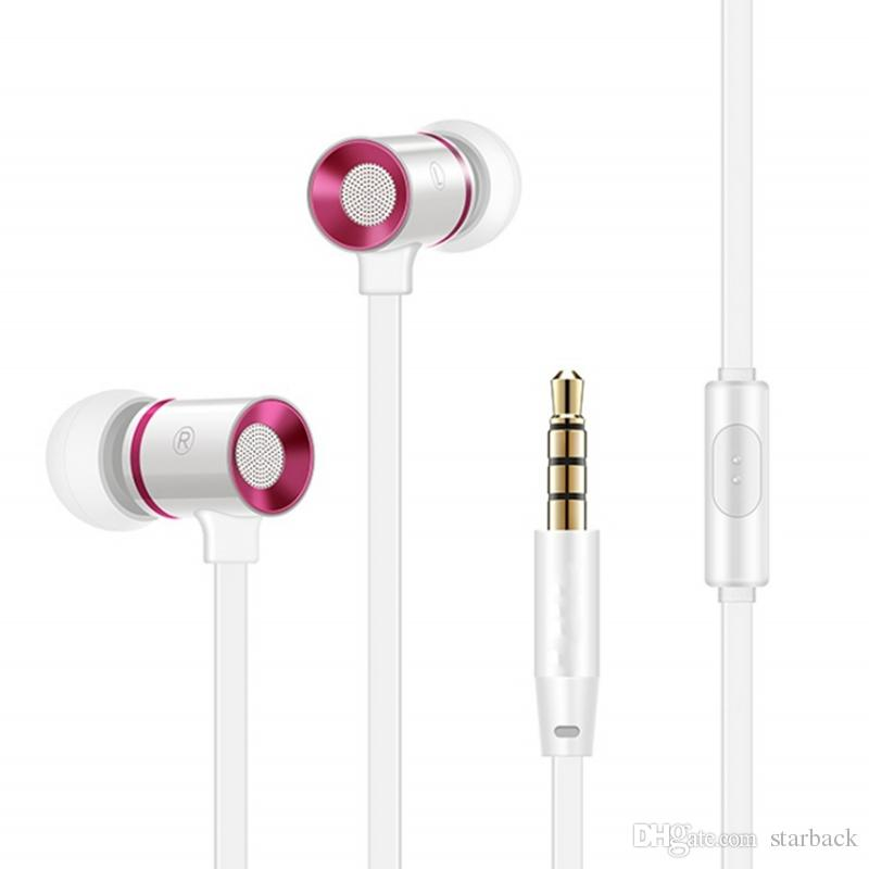 In-ear Earphone Headphone 1.2M 3.5MM Metal Earphone Heavy Bass Noise Cancelling Audio In-ear Hands Free with Mic With Retail Box