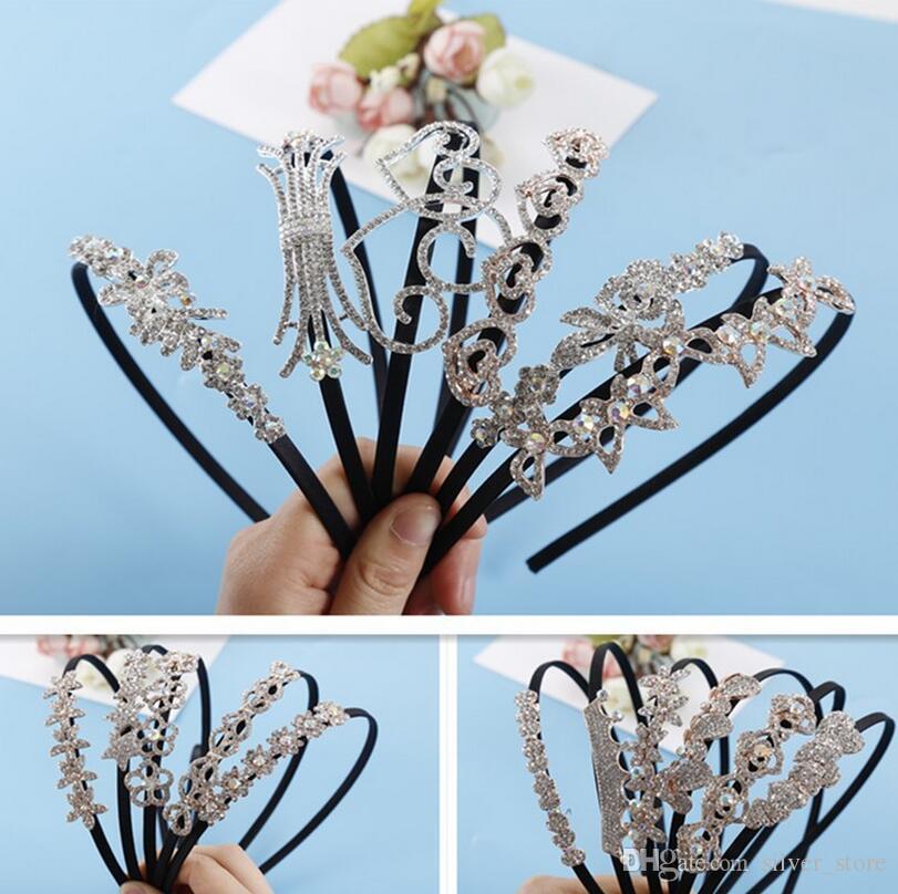 Good A++ Fashion new hair accessories Rhinestone hair hoop hairpin Liu Hai head hoop jewelry TG193 a