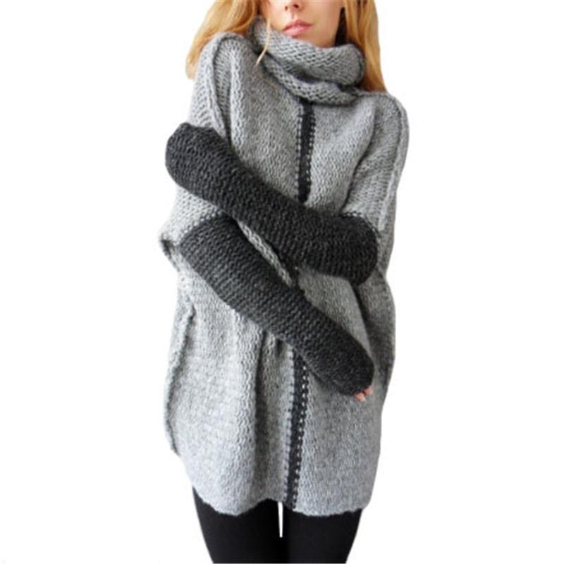 2018 2017 Women Sweaters Autumn Turtlenect Bat Long Sleeve ...