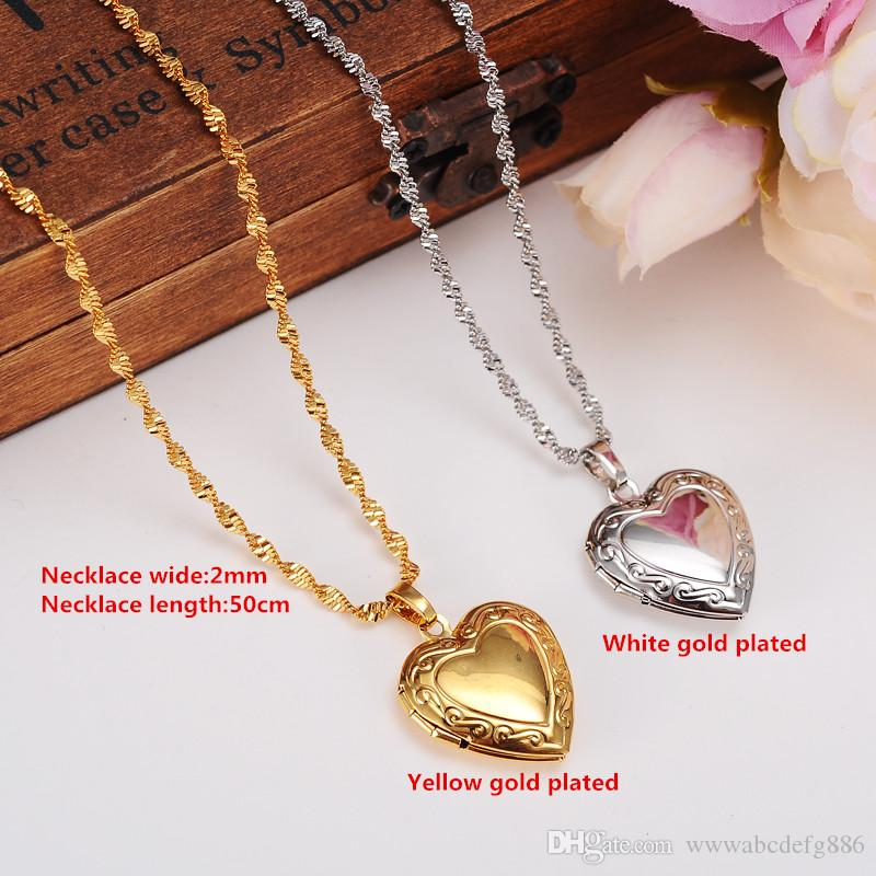 Petit 14k or Jaune 2 deux coeurs Charme Pendentif Valentine Cadeau