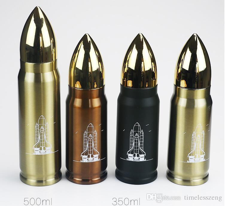 350 ملليلتر 500ML رصاصة فراغ كوب الفولاذ المقاوم للصدأ الترمس زجاجة الإبداعية زجاجات السفر المياه في الهواء الطلق الرياضة drinkware