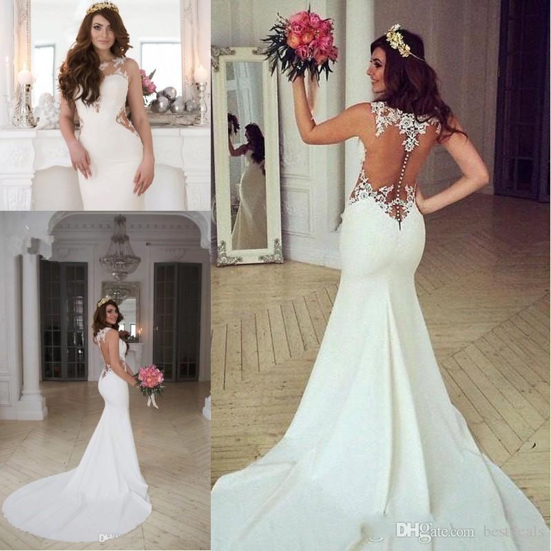 2017 Primavera Verano Sexy Vestidos Sirena De Nueva Novia Compre 6qwdC076