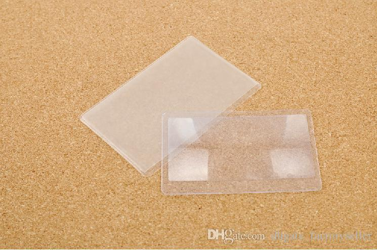Neue transparente Kreditkarte 3 X-Vergrößerungsglas-Vergrösserung Heiße Verkäufe hohe Qualität