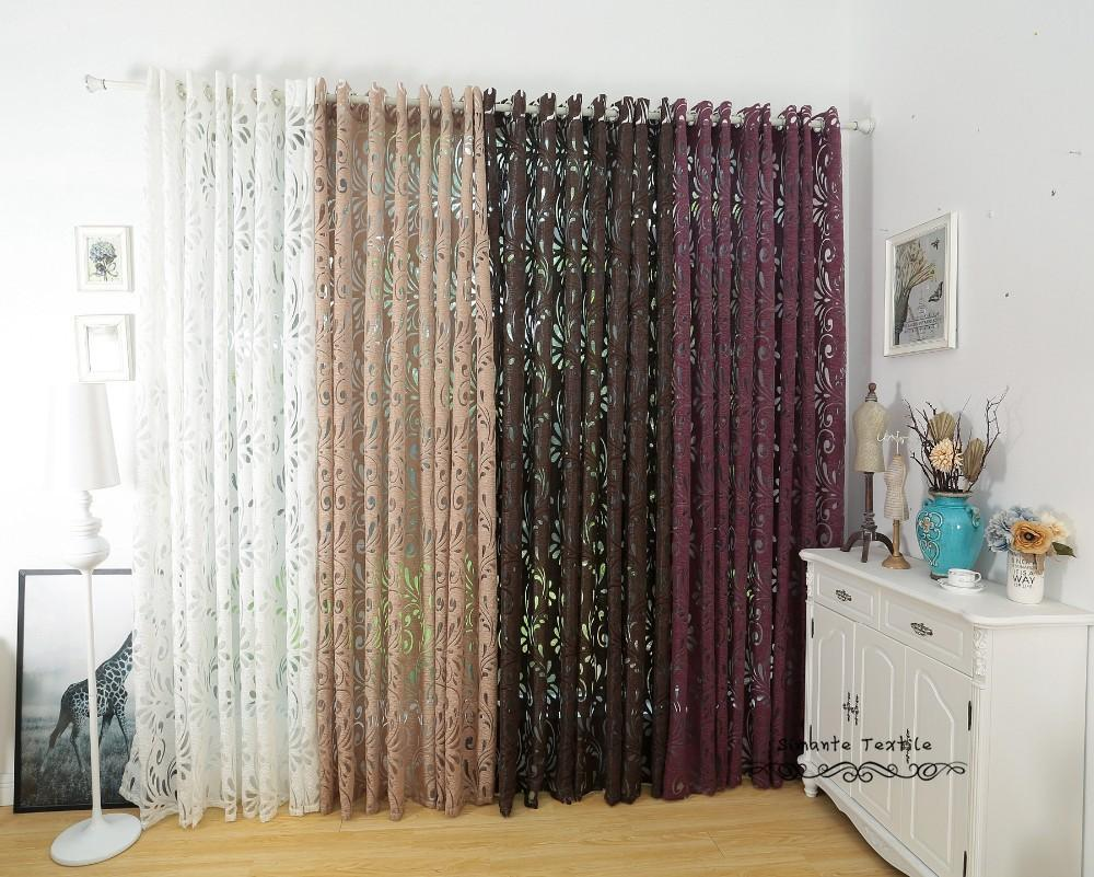 3d Cut Yarn Made Semi Blackout Curtains Blind Panel Fabrics For ...
