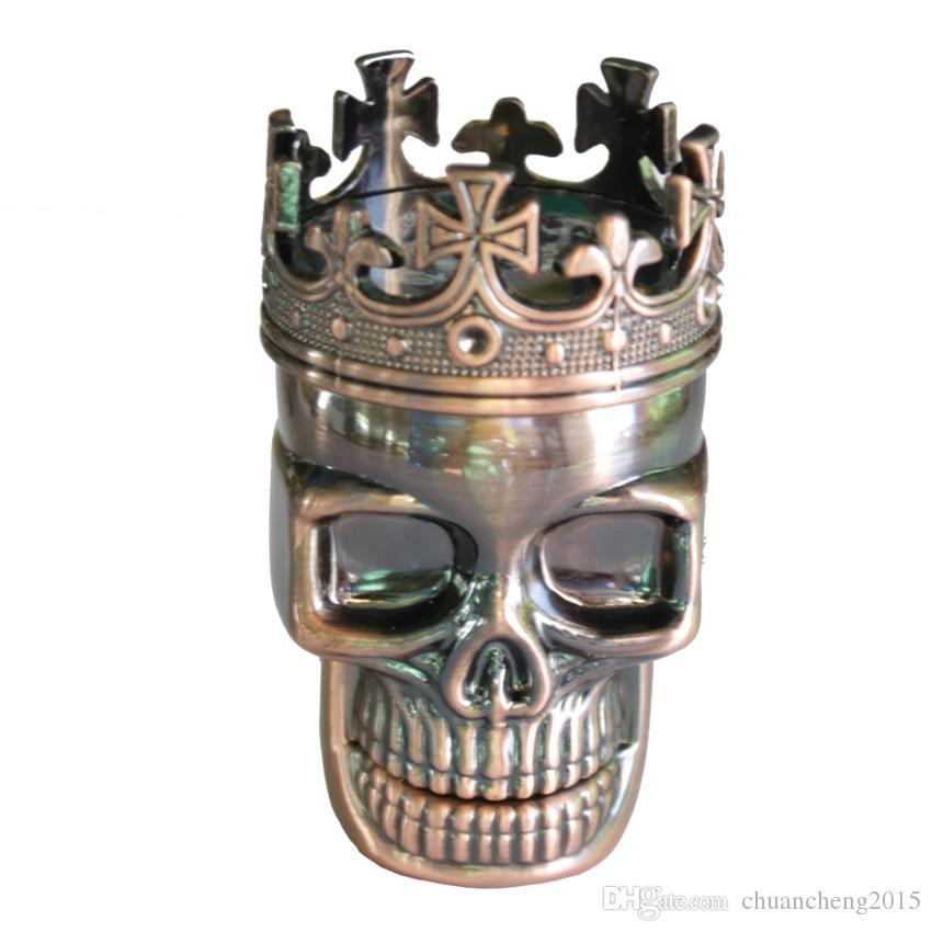 Классический череп Глава 3 слоя 47 мм травы мясорубки металла курение табака Дробилка ручной Мюллер Оптовая специй мясорубки 61012