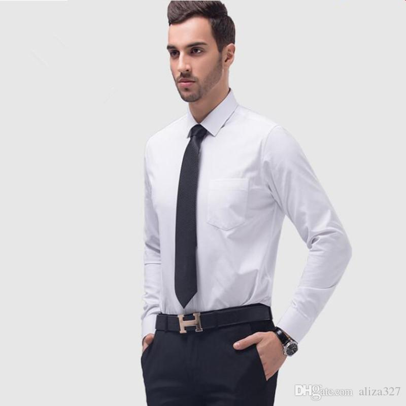 2018 Simple Version Men Wedding Dress Shirt Fashion ...