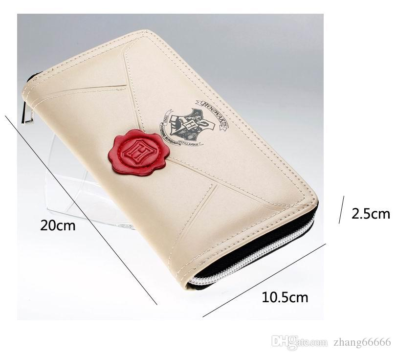 Harry Potter Letter Zip Around Wallet pu Long Fashion Women Wallets Designer Brand Purse Lady Party Wallet Female Card Holder