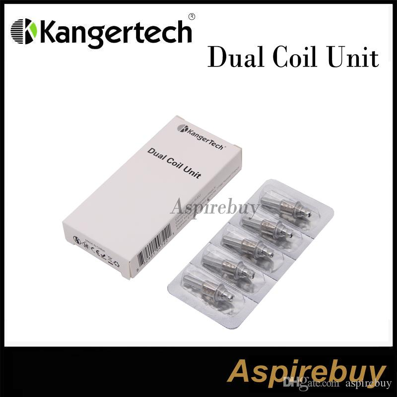 Genuine kanger New Upgraded Dual Coils Head For kangertech Mini Aerotank Mega Aerotank Protank3 T3D EVOD2 BDC Clearomizer