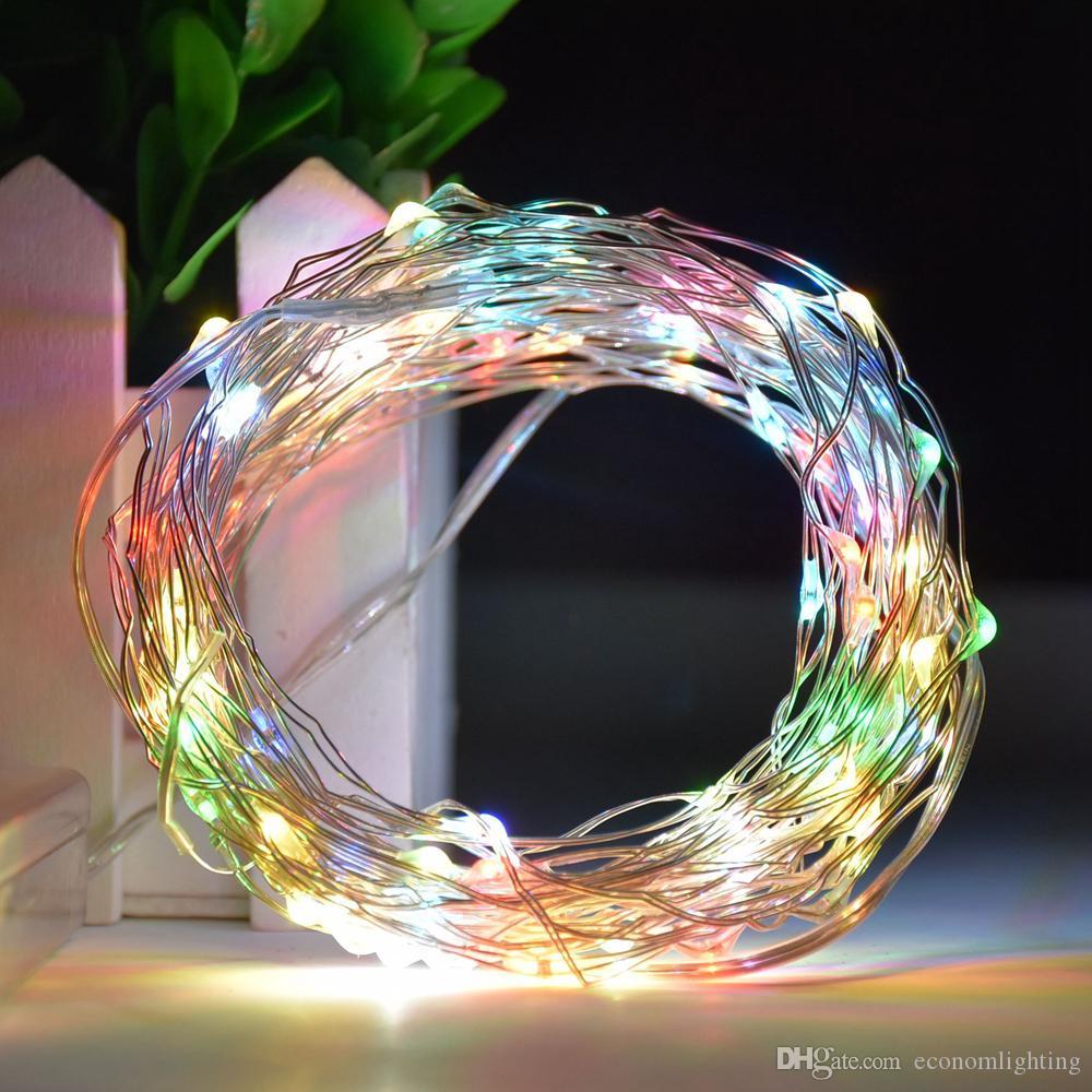 rifornimento della fabbrica della stringa LED 10m 100leds legare d'argento 3 * telecomando 8function batteria AA luce di Natale Capodanno decorazione di cerimonia nuziale