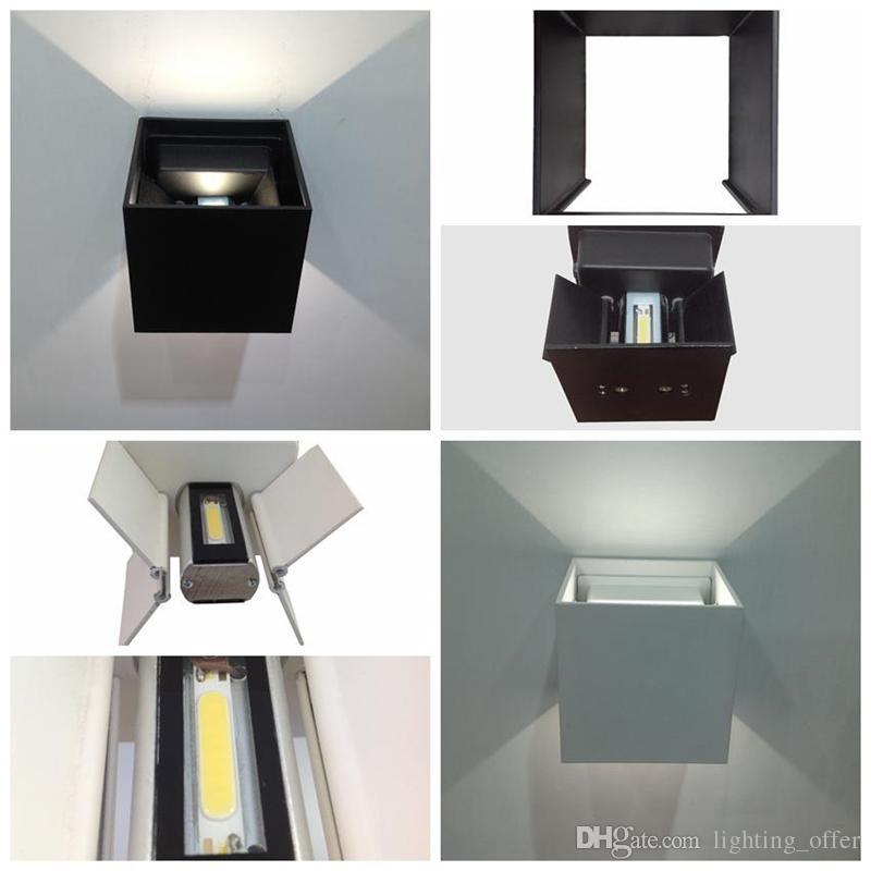 Настенный светильник 12W Led настенные бра настенные светильники регулируемый угол куб простой современный IP67 поверхностный наружный куб лампа водонепроницаемый вверх вниз