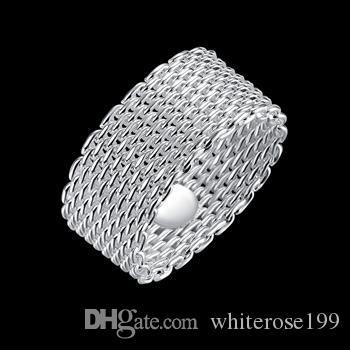도매 - 소매 최저 가격 크리스마스 선물, 무료 배송, 새로운 925 실버 패션 반지 R40